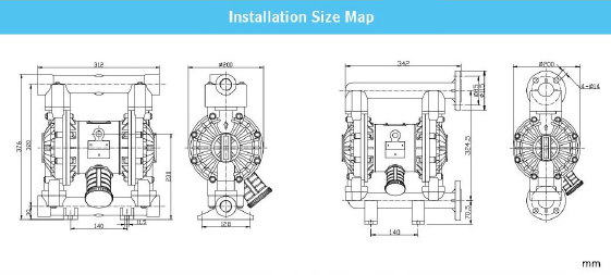 RV25P Installation Size Map