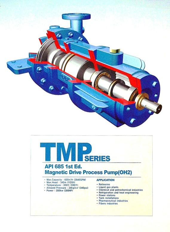 Max. Capacity: 2640gpm (600m³/hr) Max. Head: 1120ft (340m) Max. Temperature: 590°F (300°C) Max. Pressure: 340psi (24kg/cm³) Max. Power 380HP (280kW)