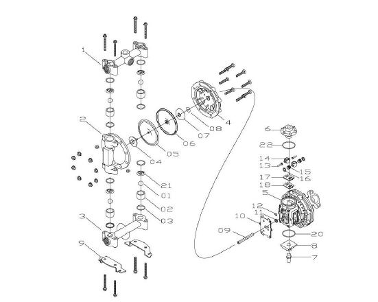 Sandpiper Diaphragm Pump Parts Diagram Diagram